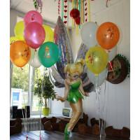 Композиция из шаров с гелием с фигурой феи Динь-динь