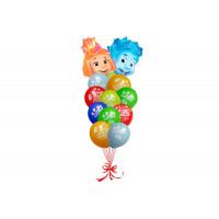 Набор гелиевых шариков на день рождения с Симкой и Ноликом из м/ф Фиксики