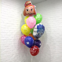 Набор гелиевых шаров Симка и Нолик на день рождения