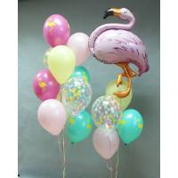 Набор разноцветных шаров с фламинго
