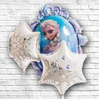 Набор гелиевых шариков Холодное сердце Эльза и снежинки