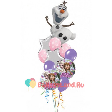 Букет из шаров Холодное сердце с Олафом на День Рождения