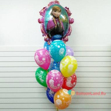 Букет из шариков с Анной, персонажем м/ф Холодное сердце
