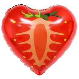 Шар-сердце Клубника