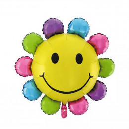 Фигурный шар Радужный цветочек