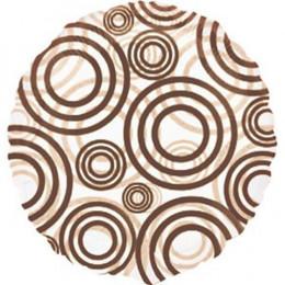 Шар-круг Коричневые кружки