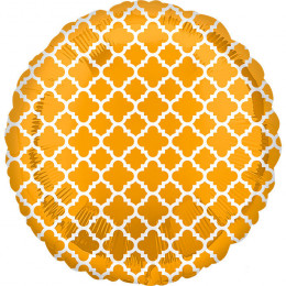 Шар-круг Узор на медовом фоне