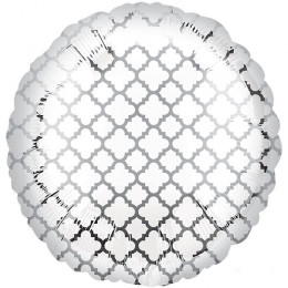 Шар-круг Узор на белом фоне
