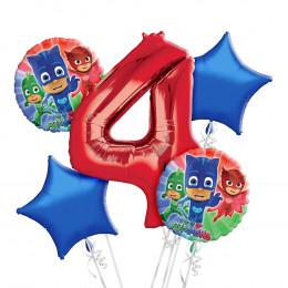 Набор шаров на День Рождения с цифрой Герои в масках