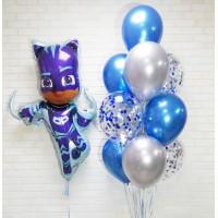 Сет воздушных шаров Кэтбой в голубых тонах