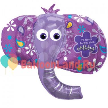 Фигурный шар Фиолетовый слон (голова)