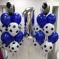 Сет из шаров на 1 год в футбольном стиле