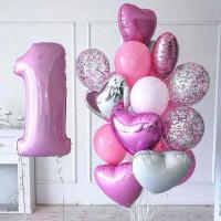 Композиция из шаров на годик девочке