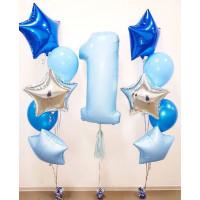 Сет сине-голубого цвета на 1 год для мальчика