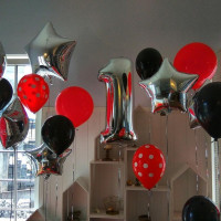 Сет из шаров на годик для украшения комнаты
