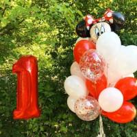 Композиция из шаров на 1 год с Мини-Маус