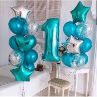 Набор из шаров для мальчика на 1 год