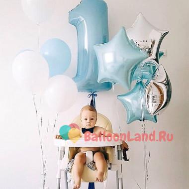 Сет из шаров мальчику на 1 год