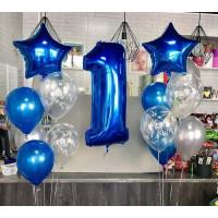 Композиция из шаров на 1 годик для мальчиков