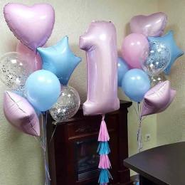 Набор из шаров для девочки на 1 год