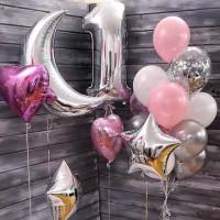 Композиция из шаров на годовасие девочке