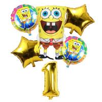 Набор шаров Губка Боб на День Рождения с цифро