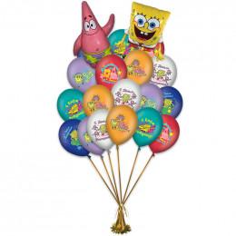 Воздушные шары С днём рождения, Спанч Боб - дополнительное фото #1