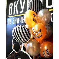 Букет из воздушных шариков на Хеллоуин со злобными тыковками