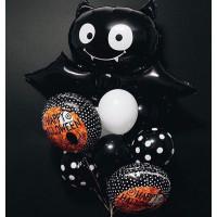 Букет воздушных шаров с летучей мышью в День мертвых