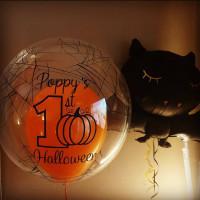 Набор шариков на первый хеллоуин малыша с летучей мышью