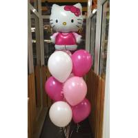 Фонтан из шаров с персонажем м/ф Hello Kitty