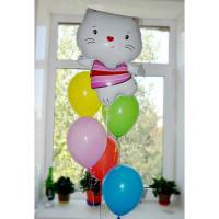Набор шаров разноцветных с котенком Китти