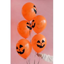 Шары Оранжевые Улыбки Тыквы на Хэллоуин