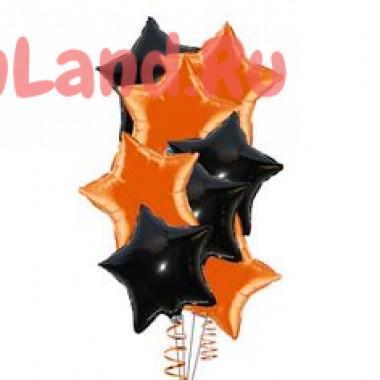 Композиция Черные и оранжевые звёзды