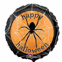 Шар-круг Паук на паутине на Хэллоуин