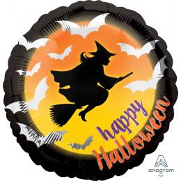 Шар-круг Happy halloween
