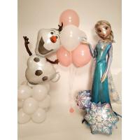 Набор гелиевых шаров Холодное Сердце, Олаф и Эльза