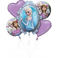 Букет шаров с гелием Эльза и Анна