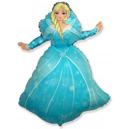Фигурный шар Снежная королева в голубом платье