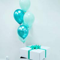 Букет шаров с гелием в коробке-сюрприз