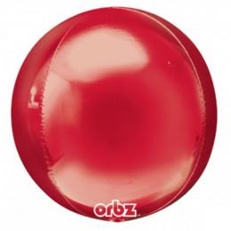 Шарик-сфера Красный, металлик