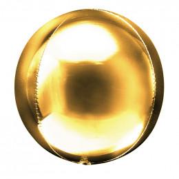 Шарик-сфера Золотая, 51 см
