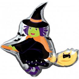 Фигурный шар Ведьма на метле