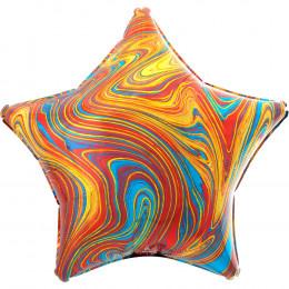 Шарик-звезда Мраморная, оранжевая