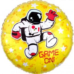 Шар-круг Game on с космонавтом и звездами