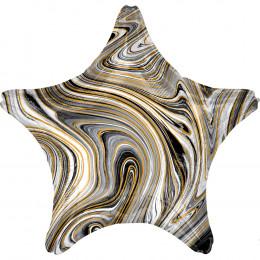 Шарик-звезда Мраморная, коричневая