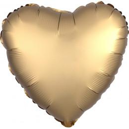 Шарик-сердце Золотое, сатин