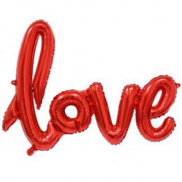 Гирлянда надувная Love, красная