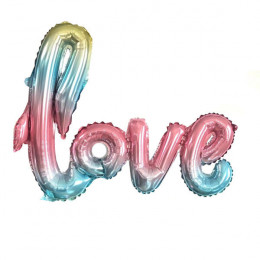 Гирлянда надувная Love, радужная