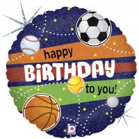 Шар-круг Спортивные мячи, Happy birthday to you